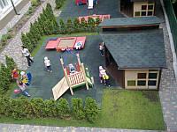 Резиновая плитка для детских, игровых, спортивных площадок, тренажёрных залов, фото 1