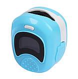 Детский аккумуляторный пульсометр оксиметр на палец (пульсоксиметр) CONTEC CMS50QB LCD Blue, фото 2