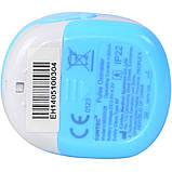 Детский аккумуляторный пульсометр оксиметр на палец (пульсоксиметр) CONTEC CMS50QB LCD Blue, фото 6