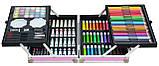 """Набор для детского творчества """"Единорог"""" в алюминиевом чемодане из 145 предметов Pink (14645), фото 2"""