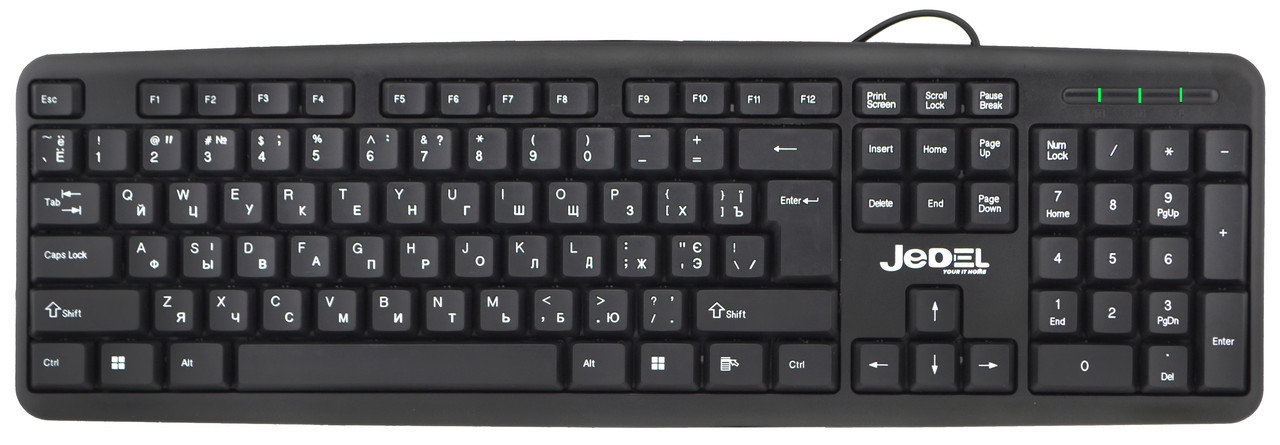 Клавиатура проводная Jedel K11 Black (90761)