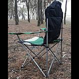 Кресло складное с подлокотниками и подстаканником, 60 х 60 х 110/92 см, Camping Palisad ДО 120 кг., фото 10