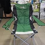 Кресло складное с подлокотниками и подстаканником, 60 х 60 х 110/92 см, Camping Palisad ДО 120 кг., фото 2