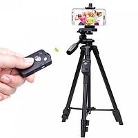 Штатив + пульт ДУ для камери і телефону TRIPOD 3388, фото 1