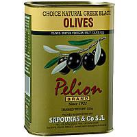 Оливки черные с косточкой Pelion Black Greek Olives, 500 г