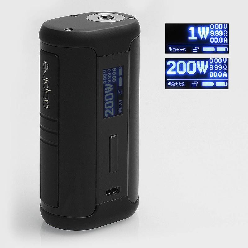 Aspire Speeder 200W TC - Батарейний блок для електронної сигарети. Оригінал Black