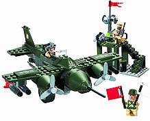 """Конструктор """"Військовий літак,винищувач"""" 225 деталей Brick-810, фото 3"""