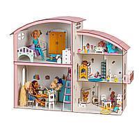 Кукольный домик FANA для кукол LOL и Барби c мебелью Гулливер (5101)