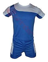 Форма футбольная детская. Размеры: S: 32-34,(3,5-6лет) Цвет:синий с белой вставкой.