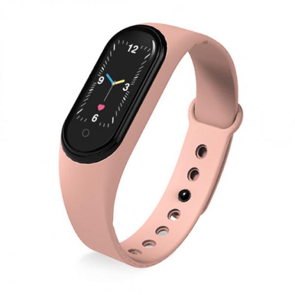 Смарт браслет M5 Smart Bracelet Фитнес трекер Watch Bluetooth. Цвет: розовый