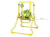 Качеля напольная детская Tako Animals Hbu ti 20 с наклонной спинкой лягушка