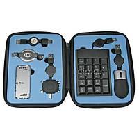 Аксессуар к ноутбуку – дорожный набор переходников USB PCUSBSET1, мышь, клавиатура, футляр