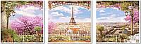 Холст по номерам VPT006 Весенний париж (50 х 150 см) Турбо
