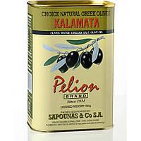 Оливки черные Каламата с косточкой Pelion Black Greek Olives Kalamata, 500 г