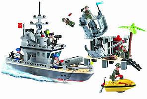 """Конструктор """"Катер берегової охорони.острівний форт"""" 505 деталей Brick-819, фото 3"""