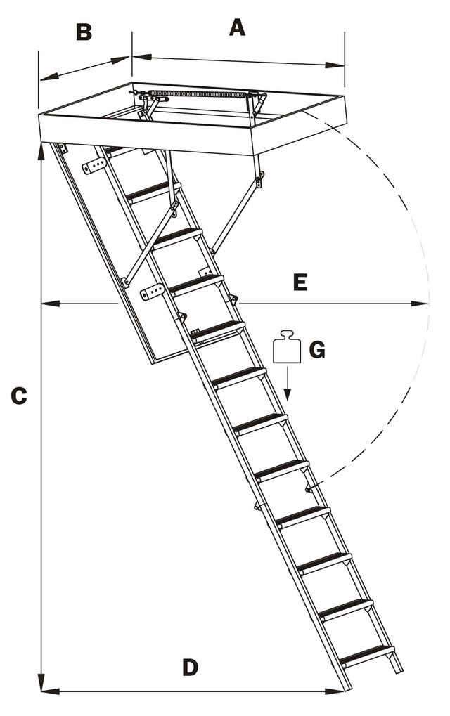 чердачные лестницы металлические | складная металлическая лестница