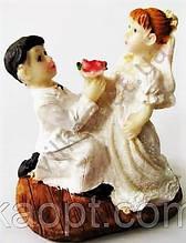 Статуэтка керамическая свадебная,8см.