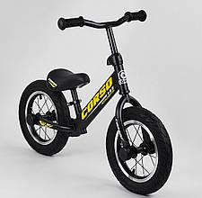 """Дитячий велобіг від """"CORSO"""" 73975 з великими колесами і міцною рамою, для дітей вагою до 30 кг, жовтий"""