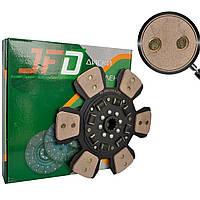 Диск сцепления ведомый МТЗ 85-1601130А (сегментный с металлокерамическими накладками, демпфер) (JFD)