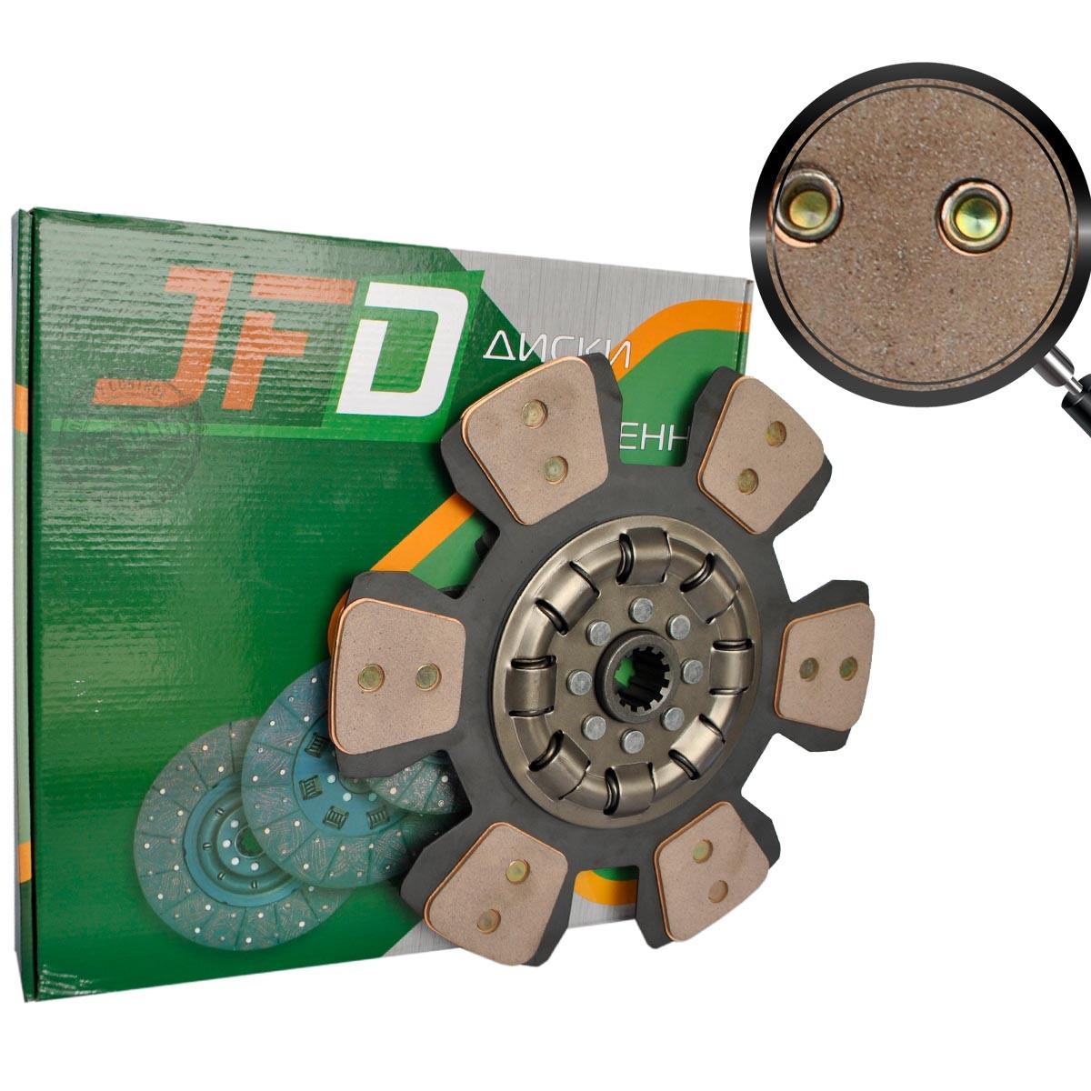 Диск сцепления ведомый МТЗ 80-1601130А (сегментный с металлокерамическими накладками) (JFD)