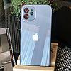 Чехол Color-Glass для Iphone 11 бампер с защитой камер Blue