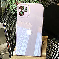 Чохол Color-Glass для Iphone 12 mini бампер з захистом камер Lavender