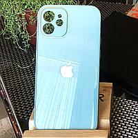 Чохол Color-Glass для Iphone 12 mini бампер з захистом камер Turquoise