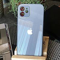 Чохол Color-Glass для Iphone 12 mini бампер з захистом камер Blue