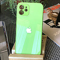 Чохол Color-Glass для Iphone 12 mini бампер з захистом камер Mint