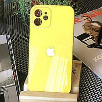 Чохол Color-Glass для Iphone 12 mini бампер з захистом камер Yellow