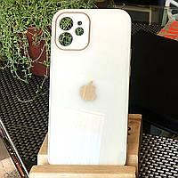 Чохол Color-Glass для Iphone 12 mini бампер з захистом камер White