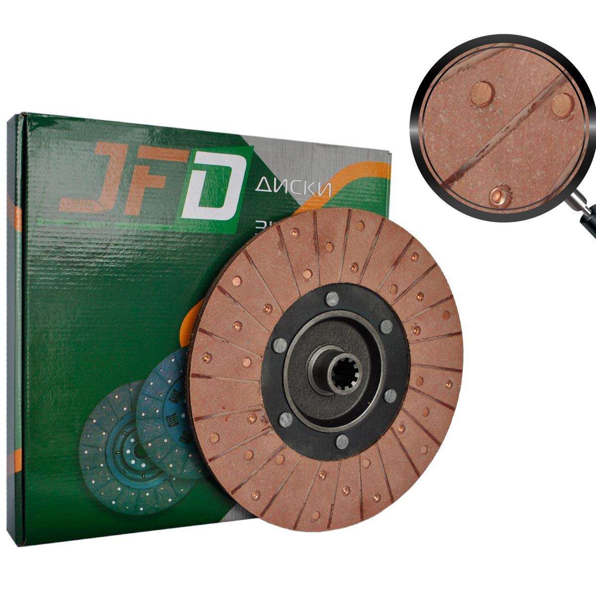 Диск зчеплення закладів Т-40 Т25-1601130-В (JFD) (червона накладка 68 мм)
