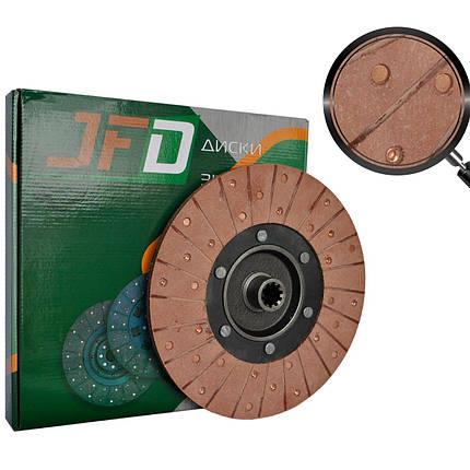 Диск зчеплення закладів Т-40 Т25-1601130-В (JFD) (червона накладка 68 мм), фото 2