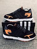 Мужские кроссовки Adid@s Nite Jogge  , черные с серым, фото 4