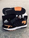 Мужские кроссовки Adid@s Nite Jogge  , черные с серым, фото 5