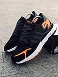 Мужские кроссовки Adid@s Nite Jogge  , черные с серым, фото 7