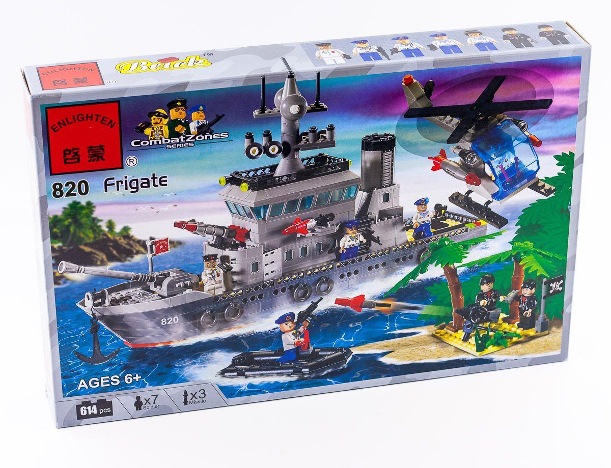 "Конструктор ""Військовий корабель (крейсер)"" 614 деталей Brick-820"