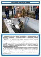 Плакат по охране труда «Сварочные работы в котловане»