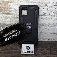 Противоударный чехол для Samsung M31s/M317 Serge Ring Черный