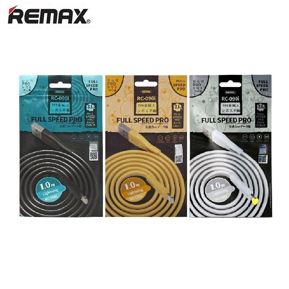USB-кабель Remax RC-090i Lightning - 1м, 2,1A, mix colour