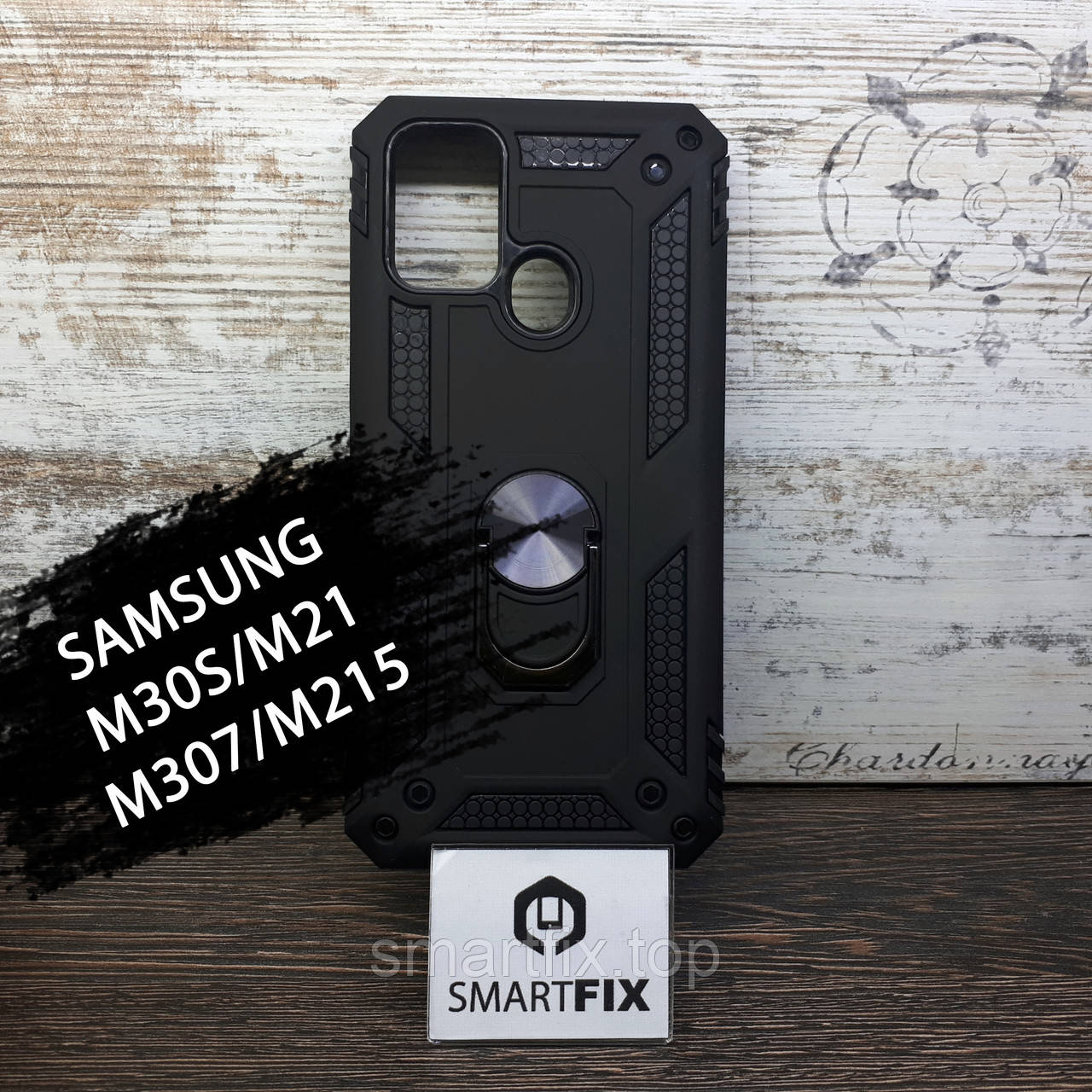 Чехол книжка для Samsung M30S/M307/M21/M215 Gelius Leather Черный