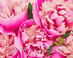 Картина по номерам 40*50 см Розовая Mary