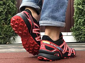 Беговые кроссовки мужские черные с красным, фото 3