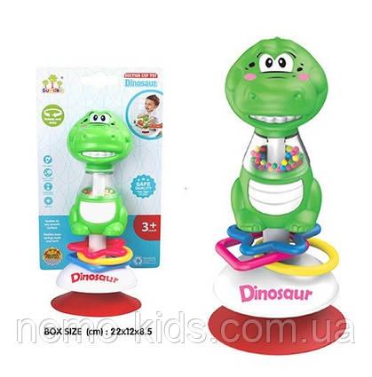 Погремушка на присоске, игрушки для малышей крокодил