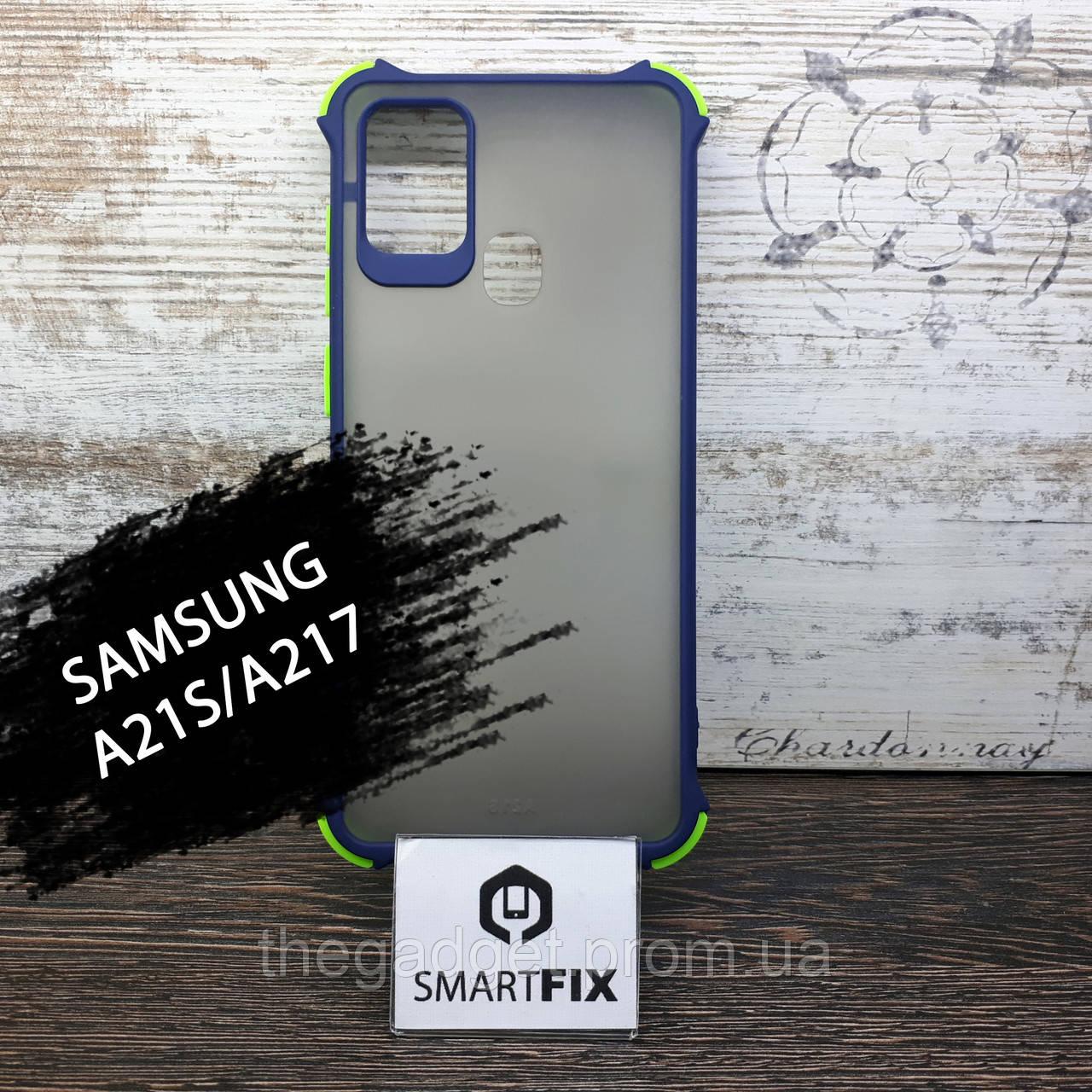 Силіконовий чохол для Samsung A21S / A217 Full Soft Пісочно-рожевий