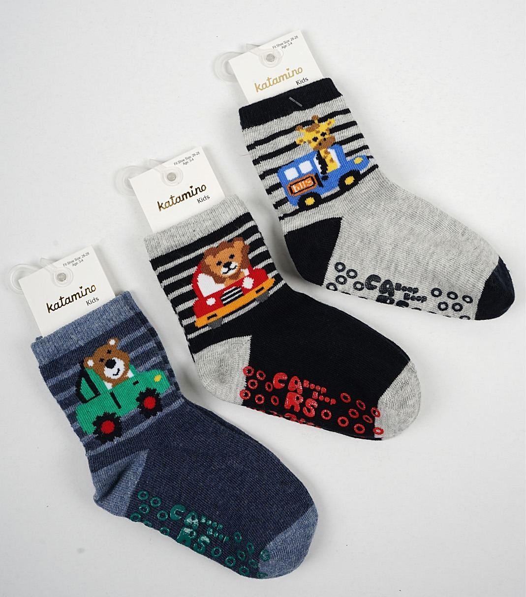Хлопковые носки с тормозами для мальчиков 5-6 ТМ Arti
