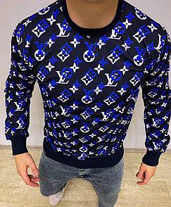 Мужская кофта свитшоты LV Black / Blue