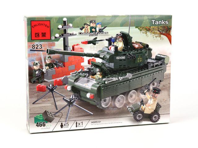"""Конструктор """"Військовий танк"""" 466 деталей Brick-823"""