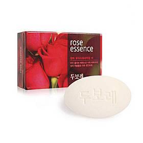 Мыло для рук и тела с розой Amore Pacific Happy Bath Dubore Moisturizing Bar Rose Soap 100 г