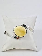 Браслет серебряный с янтарем 1056BRC2-m